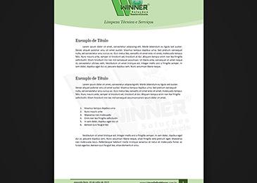 Limpa Telha Winner - Modelo de Documento
