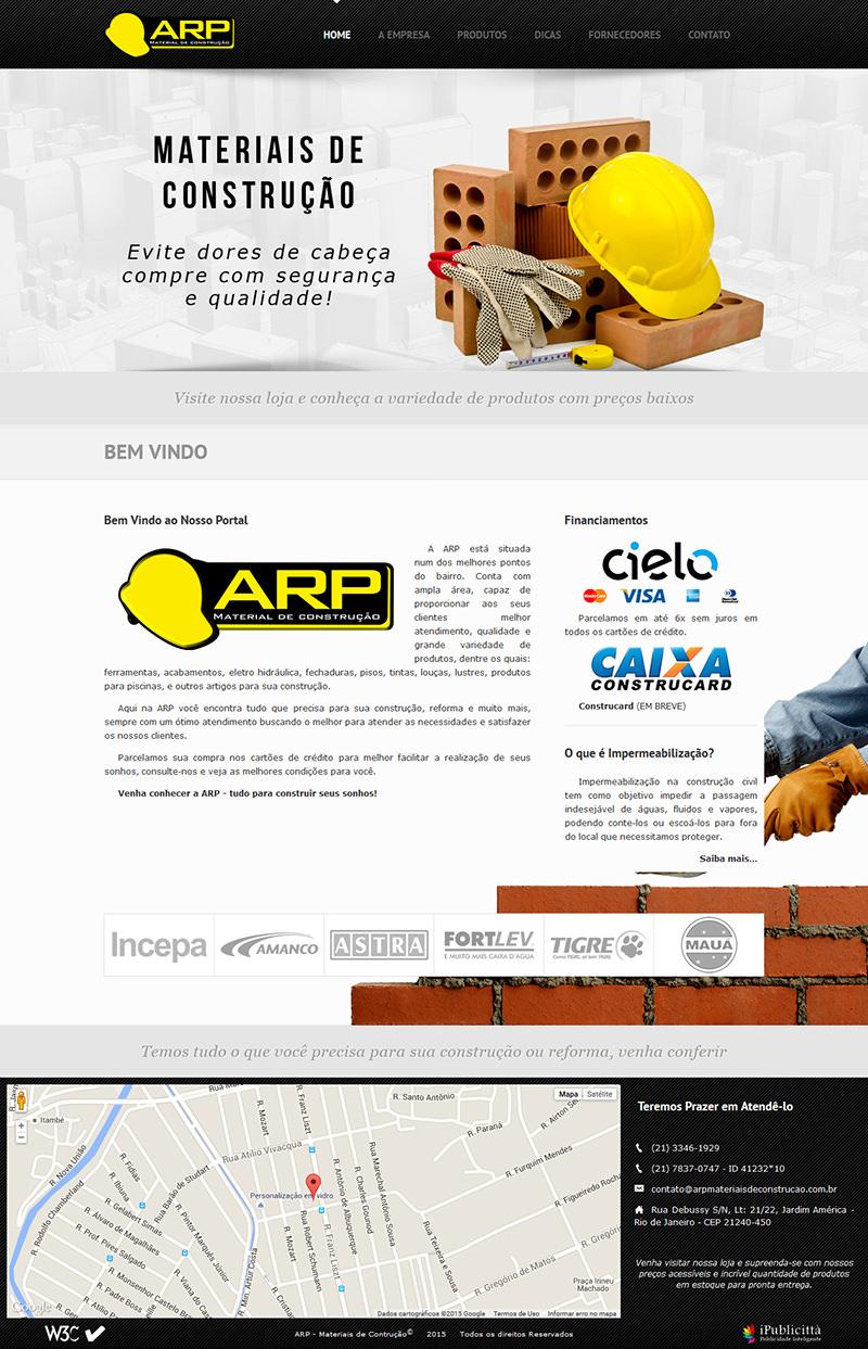 ef9911c2859da  Portfólio Website  ARP Materiais de Construção - Imagem grande